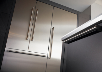 Miami Beach, FL Stainless Steel Kitchen Cabinets