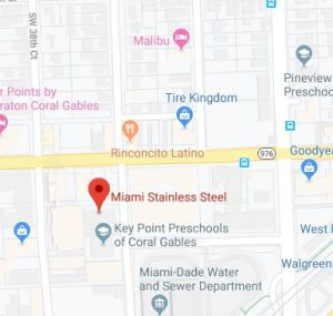 Miami Stainless Steel Map